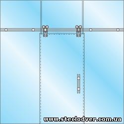 раздвижные двери из стекла caszer5
