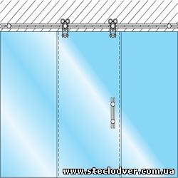 раздвижные двери из стекла caszer3