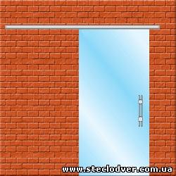раздвижные стеклянные двери вариант 1