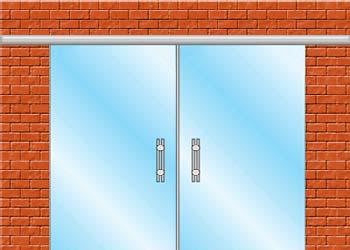 раздвижные стеклянные двери вариант zerprof 1