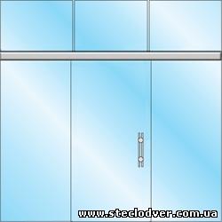 раздвижные стеклянные двери вариант 6