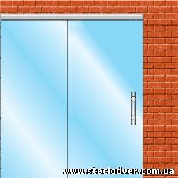 раздвижные стеклянные двери вариант 2