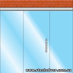 раздвижные стеклянные двери вариант 3