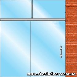 раздвижные стеклянные двери вариант 5