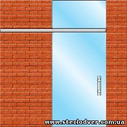 раздвижные стеклянные двери вариант 4