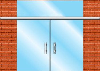 раздвижные стеклянные двери вариант zerprof 4